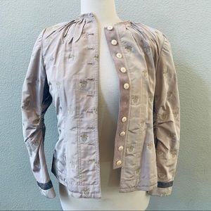 PALMER JONES silk floral fitted blazer jacket S